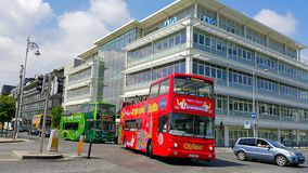 Sightseeing buses in Dublin Stock Photography