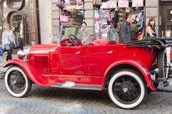 Sightseeing car in Prague Old Town Stock Photos