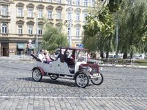 Sightseeing car in Prague Old Town Stock Photography