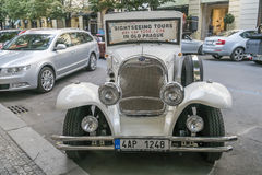 Sightseeing car in Prague Old Town Royalty Free Stock Photography