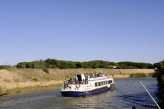 Sightseeing cruise on the Canal du Rhone Stock Photography