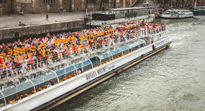 Sightseeing cruise on River Seine in Paris Stock Photography