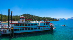 Sightseeing cruise Tahoe Queen in Lake Tahoe Royalty Free Stock Photography