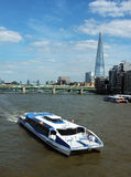 Sightseeing cruise on Thames river Stock Photo