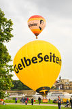 Sightseeing Dresden city by balloon. Royalty Free Stock Photography