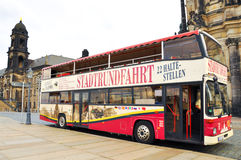 Sightseeing Dresden city by bus. Royalty Free Stock Photography