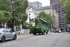 Boston Ma, 30th June: Sightseeing Duck Truck on Boston downtown in Massachusettes State of USA Stock Photo