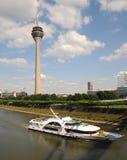 Sightseeing Dusseldorf -. Boat trips on the Rhine - Sightseeing Dusseldorf Royalty Free Stock Photography