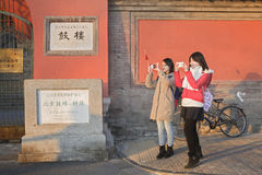 Sightseeing girls Royalty Free Stock Photography