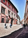 Sightseeing Krakow. Artistic look in vintage vivid colours. Royalty Free Stock Photography