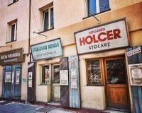 Sightseeing Krakow. Artistic look in vintage vivid colours. Royalty Free Stock Image