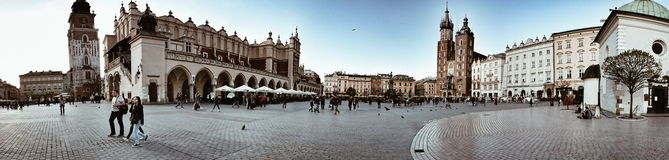 Sightseeing Krakow. Artistic look in vintage vivid colours. Royalty Free Stock Photo