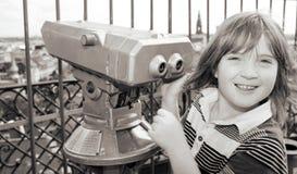 Sightseeing lookout binoculars Stock Image