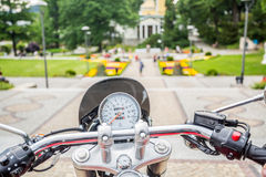 Sightseeing from motorcycle Stock Image