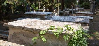 Sightseeing na cidade de Corfu: b antigo e velho do lugar interessante - Fotografia de Stock