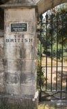 Sightseeing na cidade de Corfu: lugar interessante - briti velho antigo Imagem de Stock Royalty Free