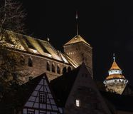 Castle Nuremberg at Night royalty free stock photo