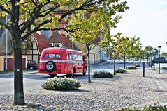 Sightseeing red bus Royalty Free Stock Photography