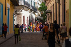 Sightseeing in the side street from Havana Cuba.  Royalty Free Stock Images