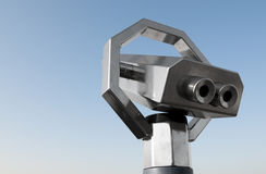 Sightseeing telescope Stock Photo