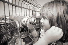 Sightseeing telescope binoculars Royalty Free Stock Image