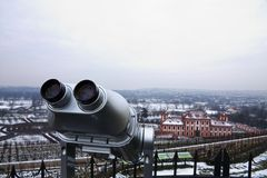 Sightseeing telescope Royalty Free Stock Photo