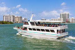 Sightseeing tour aboard a ship in Miami Royalty Free Stock Image