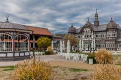 Sightseeing tour through Bad Salzungen royalty free stock photos