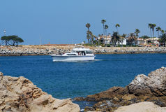 Sightseeing Tour Boat. Tour boat with passengers on sightseeing cruise Stock Photos