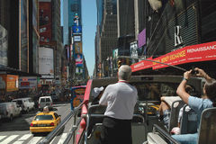 Sightseeing Tour Bus New York USA Stock Photography