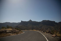 Sightseeing-Tour in Gran Canaria, Berge Stockfoto
