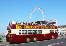 Sightseeing Tour of London. Big Bus Sightseeing Tour of London Stock Photo