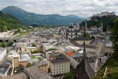 Austrian city of Salzburg 04 royalty free stock photography