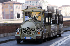 Sightseeing touristic train in Pisa, Italy Stock Photos