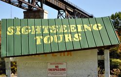Sightseeing tours sign Stock Photo