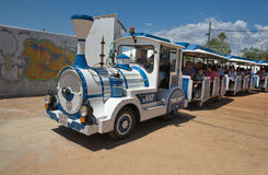 Sightseeing train across Cordoba fairground Stock Image