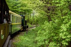 Sightseeing Train in Miskolc Stock Image