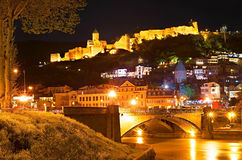 Sightseeings of Tbilisi at night, Georgia Stock Photography