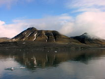 Sightseen in Svalbard. North Pole, Norway Royalty Free Stock Images