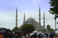 Sightseers in Istanbul Turkey Royalty Free Stock Photography