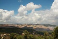 Sightseings from Birya, Israel. Sighteings from Birya, Tsfad, Israel, with clouds Stock Photos