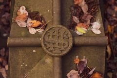 A sigil marking on a grave royalty free stock photography