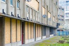 Sigillato e svuoti il blocchetto dell'alloggio della casa popolare, Robin Hood Gardens Immagini Stock Libere da Diritti