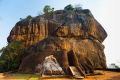 Sigiriya其次岩石端级别台阶狮子英尺 库存照片