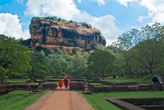 Sigiriya, également connu sous le nom de Lion Rock photo stock