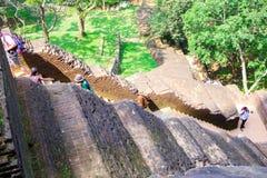 Sigiriya/étapes à Sigiriya/à photo montrant les étapes menant à Sigiriya& x27 ; dessus de s, Sri Lanka rentré, le 25 janvier 2018 Photo libre de droits