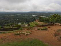 Sigiriya или Sinhagiri старая крепость утеса Стоковая Фотография