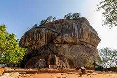 狮子门入口门面Sigiriya堡垒 免版税库存图片