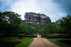 Βράχος λιονταριών Sigiriya Στοκ Εικόνα