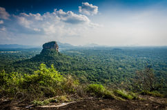 Sigiriya. Is an ancient palace located in the central Matale District near the town of Dambulla in the Central Province, Sri Lanka Stock Photography